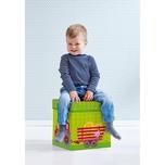 Haba Sitzhocker & Aufbewahrungsbox Traktor