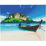 CRAFT Buddy Bastelset für Tropische Strandboote mit gerahmten Kristallkunstwerken