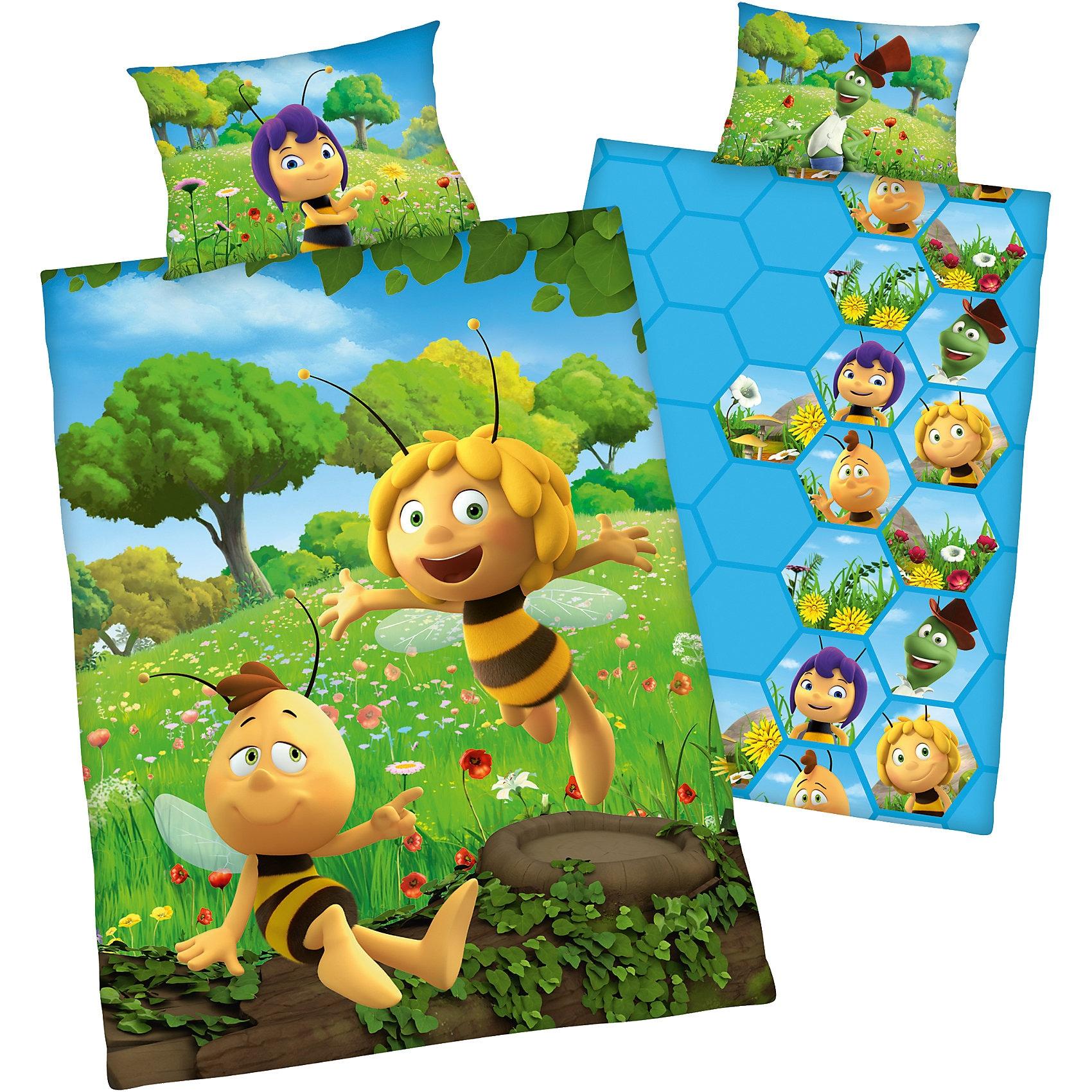 Herding Wende- Kinderbettwäsche Biene Maja Renforcé 100 x 135 cm