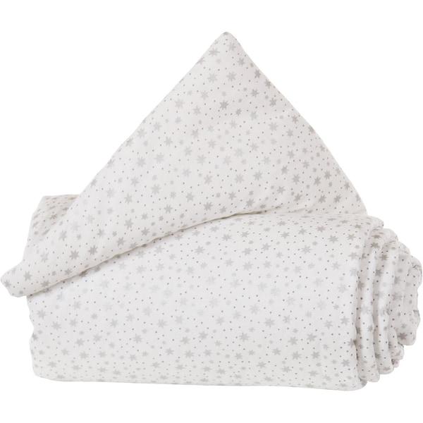 Tobi Gitterschutz Organic Cotton Für Verschlussgitter Alle Babybay Modelle Weiß Glitzersterne Silber