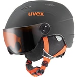 uvex Skihelm junior Visor pro black matt 54-56