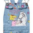 Bibi und Tina Jeans-Latzhose mit Rüsche für Mädchen