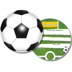 dh konzept Einladungskarten Fussball 6 Stück