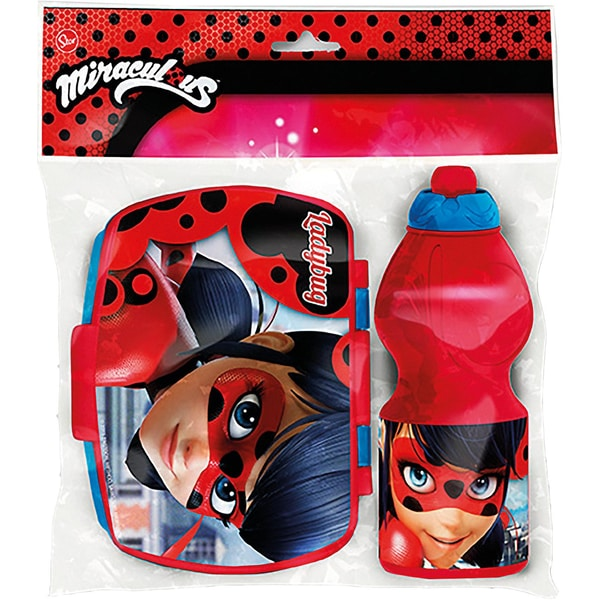 Joy Toy Miraculous Set: Pausenbox Trinkflasche
