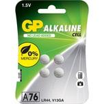 Knopfzelle GP Alkaline LR44 76A 15 Volt 4er Blister