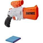 Hasbro SR Fortnite Nerf Blaster -- Spannhebel-Action mit 4 Darts -- mit abnehmbarem Fernrohr und 8 N