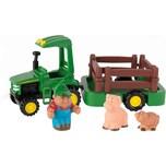 TOMY John Deere - Traktor mit Anhänger Tierfiguren - Spielset