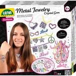 LENA Metal Jewelry Crystal Gem inkl. Schmuckbaum Bastelset für Metallketten Armbänder
