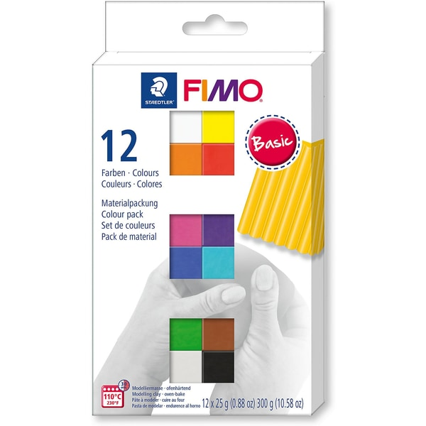 Staedtler Fimo soft Materialpackung Basic Colours 12 x 25 g