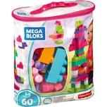 Mattel Mega Bloks Bausteine-Beutel pink 60 Teile Steck-Bausteine Kinder Bauklötze