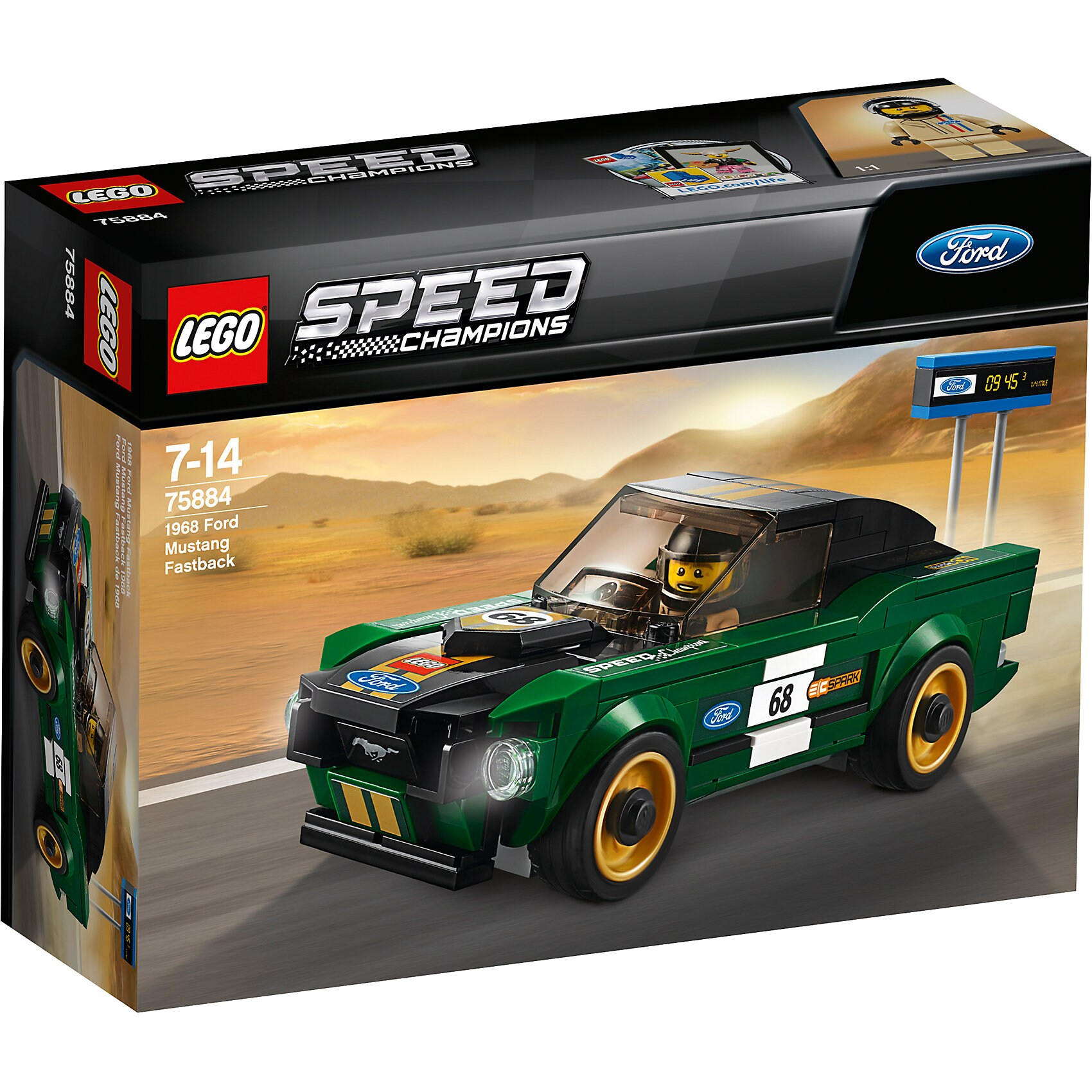 Lego Speed 75884 1968 Ford Mustang Fastback
