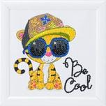 CRAFT Buddy Crystal Art Cooler Tiger 16 x 16 cm Kristallkunst zum Einrahmen
