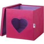 Store It! Aufbewahrungsbox Herz Mit Sichtfenster Pink