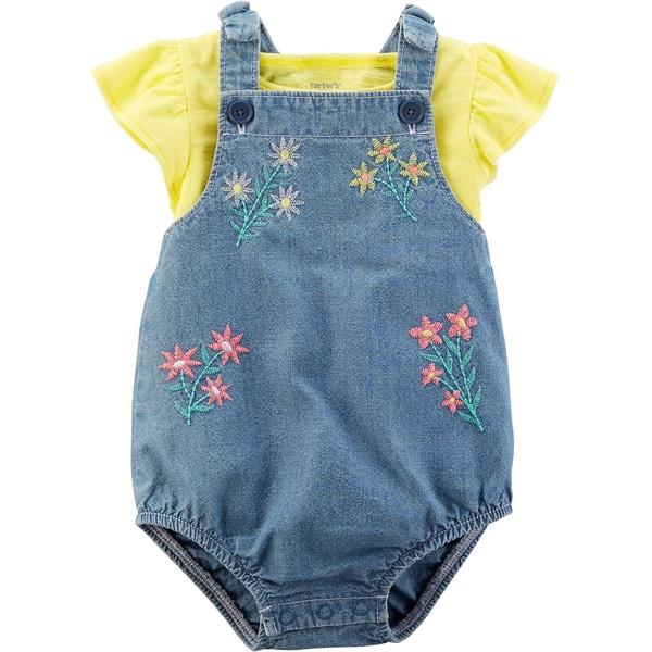 carter`s Baby Set Latzspieler T-Shirt für Mädchen