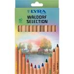 Lyra Buntstifte Waldorf Selection 12 Farben natur