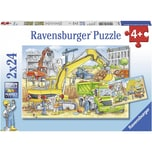 Ravensburger 2er Set Puzzle je 24 Teile 26x18 cm Viel zu tun auf der Baustelle