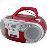 Soundmaster CD Player mit Radio und Kassettenspieler rot
