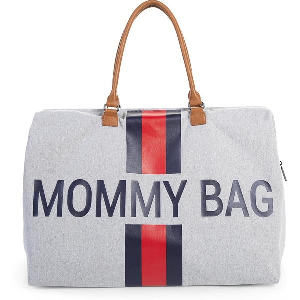 Childhome Wickeltasche Mommy Bag Canvas Streifen rotblau
