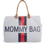 Childhome Wickeltasche Mommy Bag Canvas Streifen rotblau