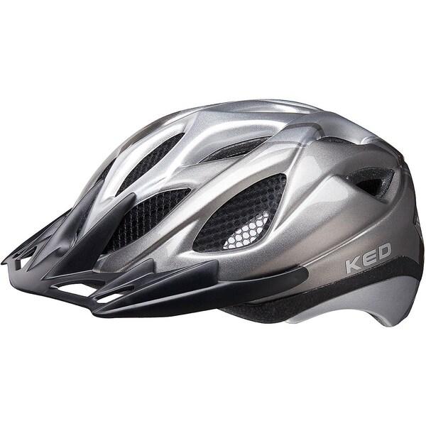 KED Helmsysteme Fahrradhelm Tronus grau-silber