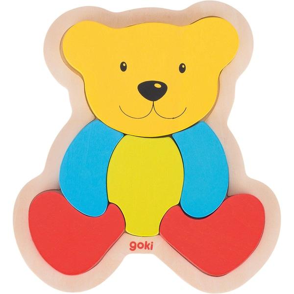 goki Einlegepuzzle Bär