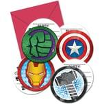Procos Einladungskarten Avengers 6 Stück inkl. Umschläge