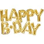 Amscan Folienballon SuperShape Happy BDAY gold