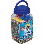Hama Perlen 2063 Dose blau mit 16.000 midi-Perlen & Zubehör