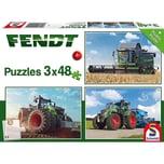 Schmidt Spiele Kinderpuzzleset 3 x 48 Teile Traktor Fendt 1050 Vario724 Vario6275L
