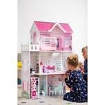 myToys Puppenhaus mit 13 Möbeln pink