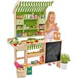 Chr. Tanner großer Biomarkt aus Holz mit 40 Miniaturverpackungen Kaufladen