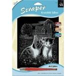 Mammut Spiel und Geschenk Scraper Silber Groß Spielende Katzen