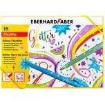 Eberhard Faber Glitzer Filzstifte 16 Farben im Geschenkkarton