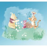 Komar Vlies Fototapete - Disney Winnie Pooh Picnic 280X300 Cm