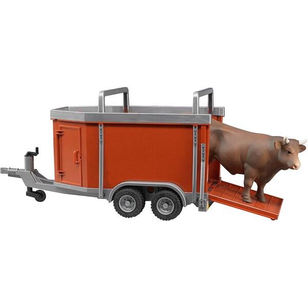 Bruder BRUDER 02029 Viehanhänger mit Kuh oder Rind