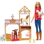 Mattel Barbie Spaß auf dem Bauernhof Puppe und Spielset