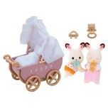 Epoch Traumwiesen Sylvanian Families Schokoladenhasen Zwillinge mit Kinderwagen