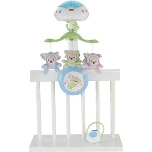 Mattel Fisher-Price 3-in-1 Traumbärchen Baby Mobile Spieluhr Nachtlicht mit Musik