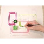 C. KREUL Javana Stoffmalfarben-Set für helle Stoffe Trendfarben, 6 x 20 ml + Pinsel