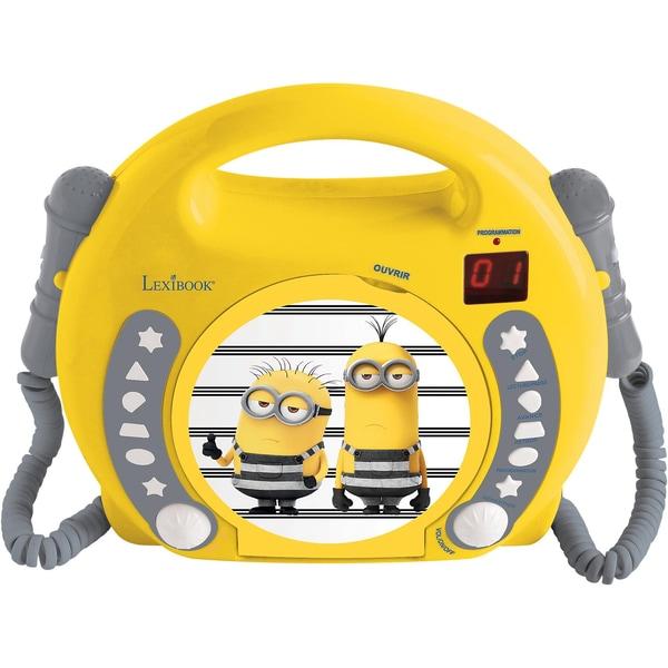 Lexibook Minions Kinder CD-Player mit 2 Mikrofonen