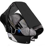 Sunnybaby Sonnensegel für Babyschale UPF 50 + Schutz schwarz