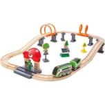 HAPE Eisenbahn-Set Nacht-Rundfahrt mit Solar-Lok