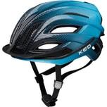 KED Helmsysteme Fahrradhelm Champion Visor blau-schwarz