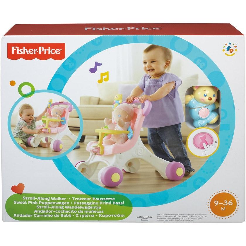 Mattel Fisher-Price Puppenwagen rosa Lauflernwagen Mädchen Lauflernhilfe Laufwagen
