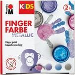Marabu KIDS Fingerfarbe Metallic 4 x 100 ml