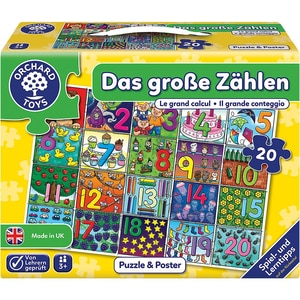 Bodenpuzzle Das große Zählen