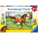 Ravensburger 2er Set Puzzle je 24 Teile 26x18 cm Welt der Pferde