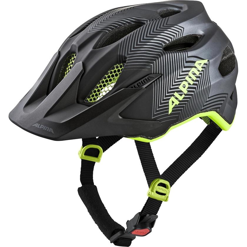 Alpina Fahrradhelm Carapax Jr.Black-Neon-Yellow
