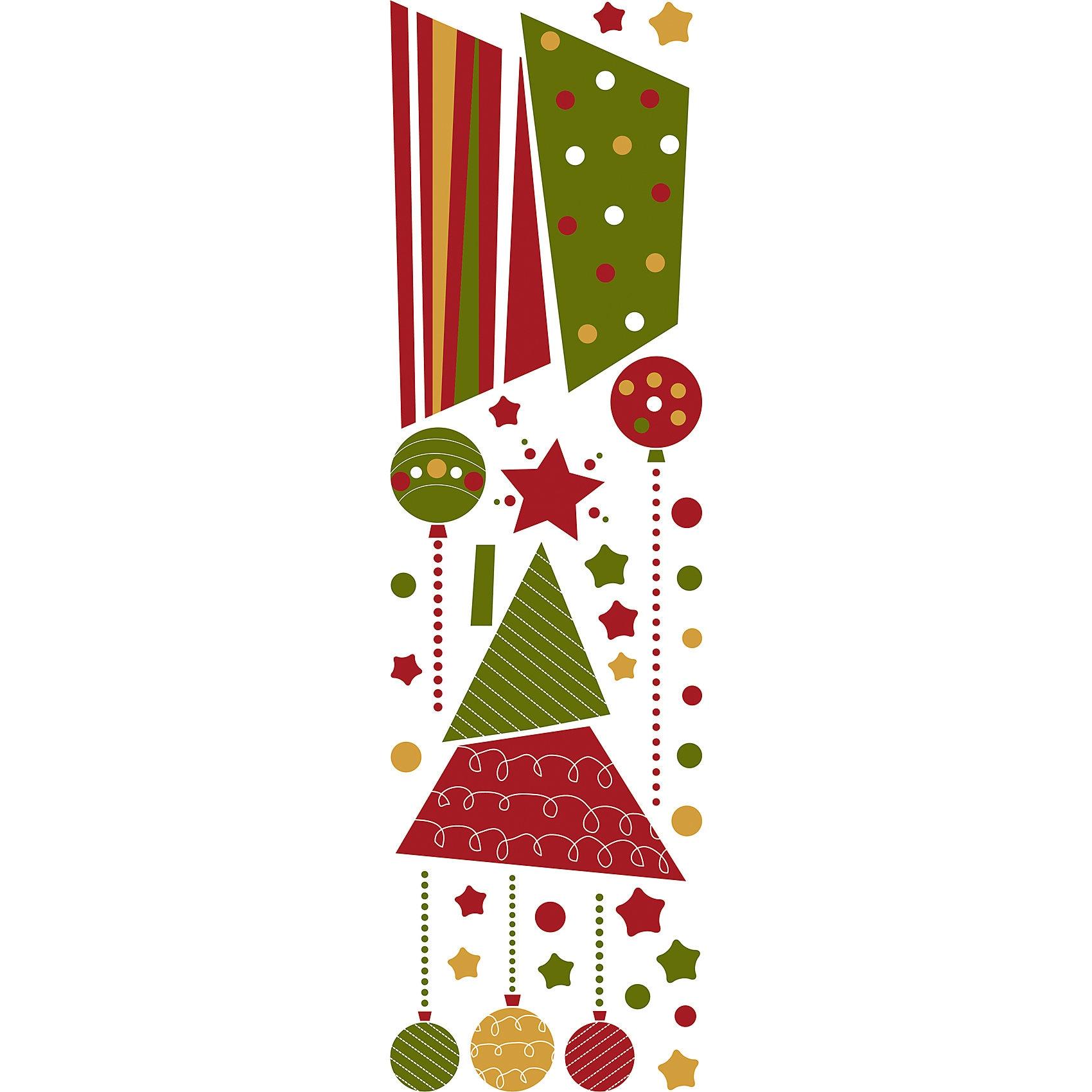 Wandsticker Weihnachtsbaum 33-tlg.