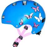 uvex Fahrradhelm kid 3 butterfly Gr. 51-55 metallicblau